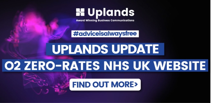 Uplands Update - O2 have zero-rated the NHS UK Website